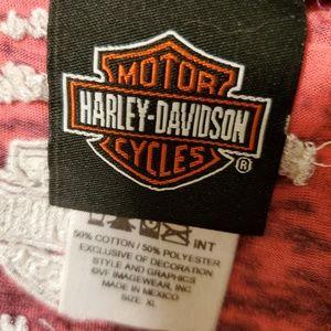 Harley-Davidson Tops - Pink burnout style Long Sleeve Harley Davidson
